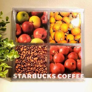 Starbucks set of 4 coasters, harvest,ceramic